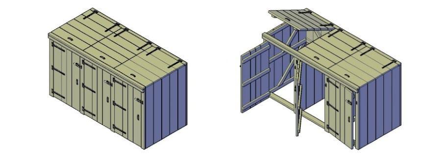 container ombouw maken van hout