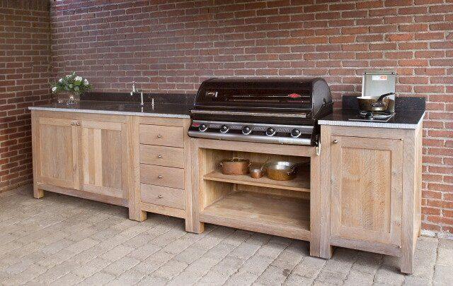 buitenkeuken gemaakt van steigerhout
