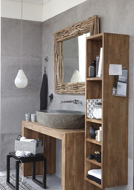 badkamermeubel gemaakt van teakhout