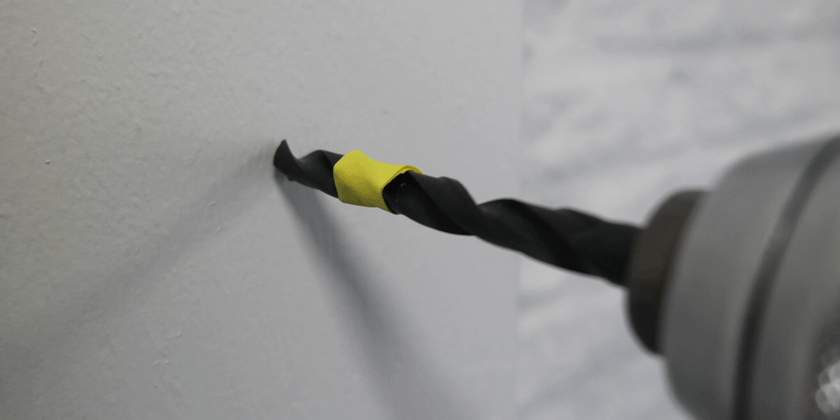 stofvrij boren met tape
