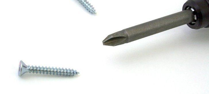 dolgedraaide schroef verwijderen