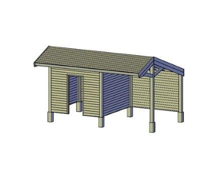 Een houten kapschuur maken met een bouwtekening
