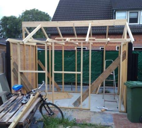 houten schuur bouwen