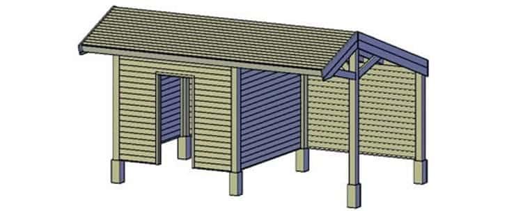 houten schuur bouwen met een bouwtekening