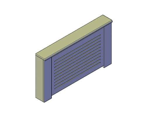 Radiatorombouw maken tekening voorbeeld 1