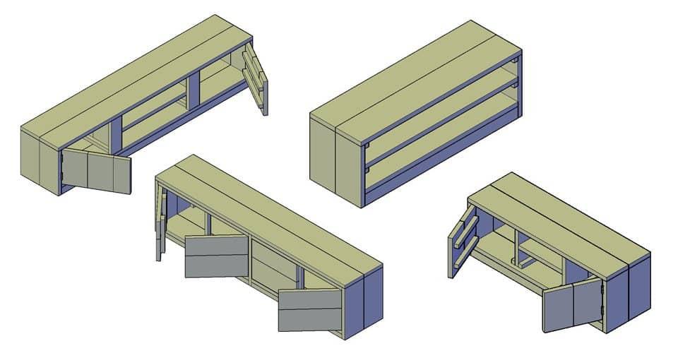 bouwtekening tv meubel