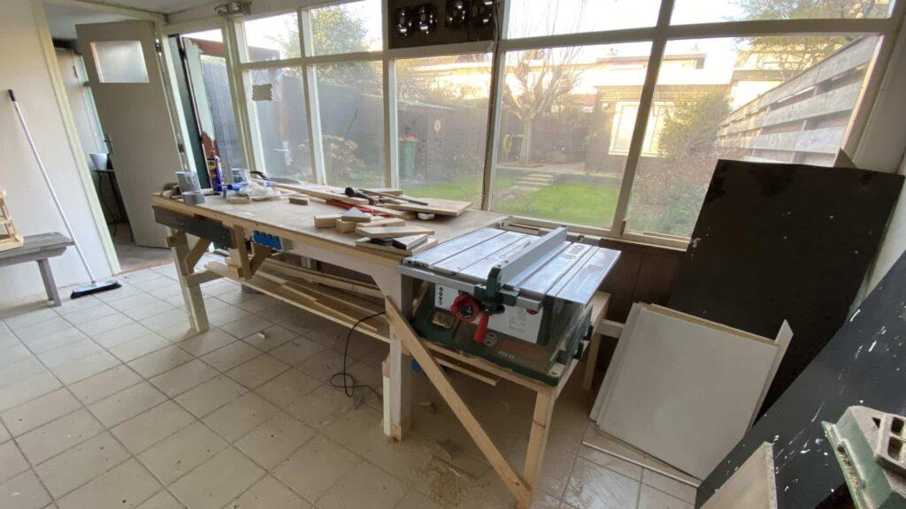 bouwtekeningen-hout.nl werkplaats binnen