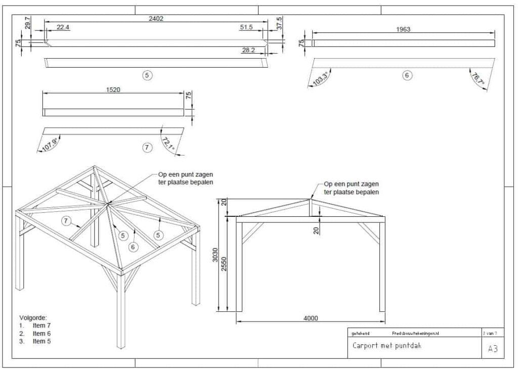 bouwtekening carport maken pdf
