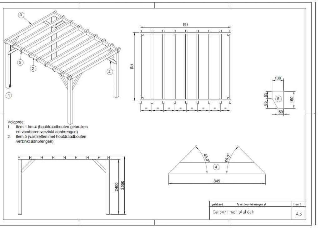bouwtekening carport pdf
