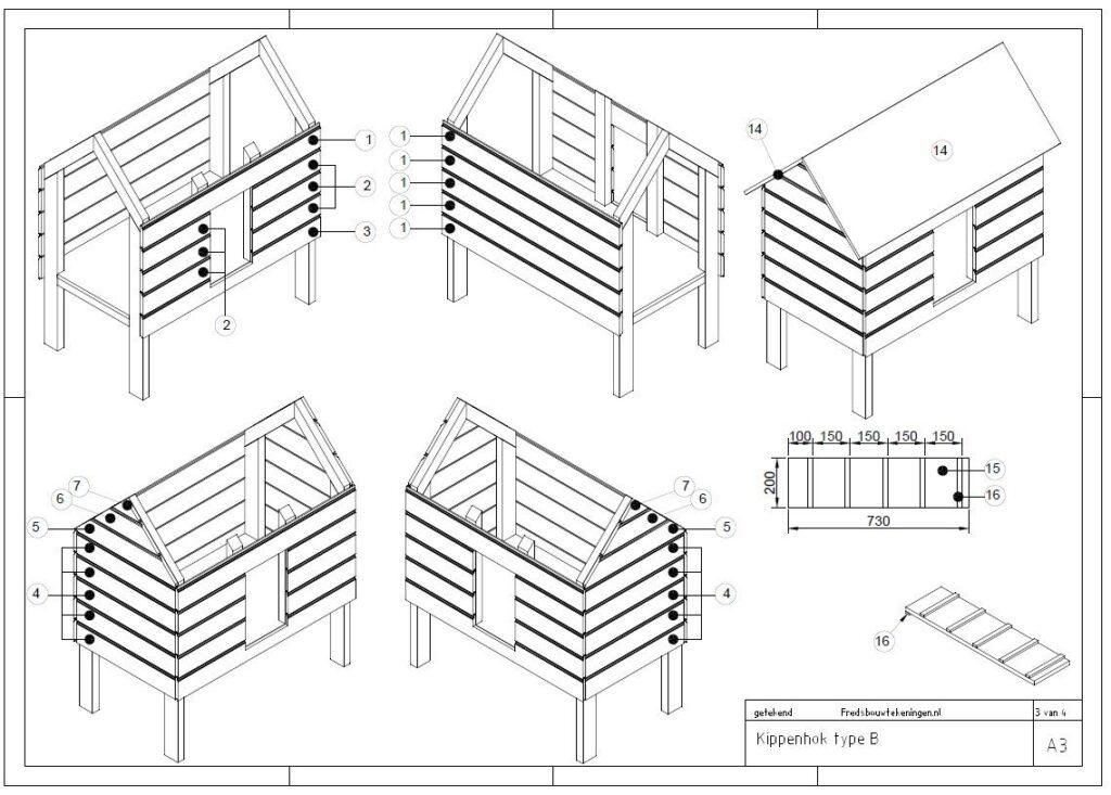 kippenhok bouwtekening pdf